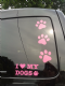 15 x dog paw pink car bumper sticker decal ideal for fundraising van boat shop window